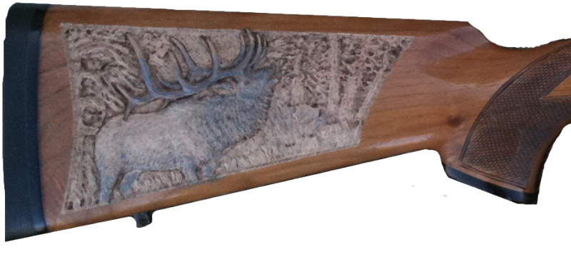 Gun Stock Carving by Dyke Roskelley