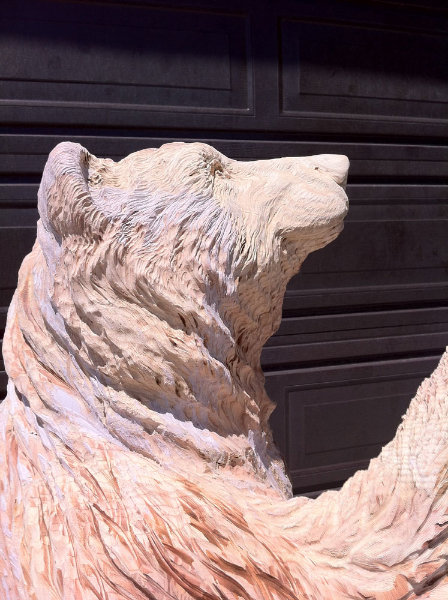 Bear Wood Carving Image - Unfinished