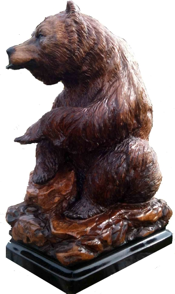Bear Carving - Wood Sculpture