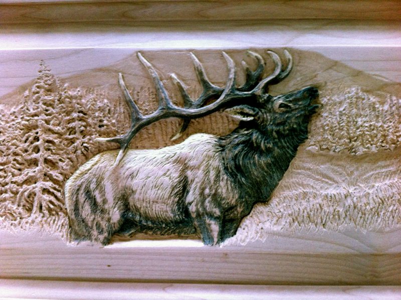 Wood Carving - Elk