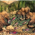Bears-and-Fish-Wood-Carving