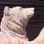 Bear Wood Carving Image - Unfinished