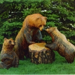 Wood Carving by Dyke Roskelley
